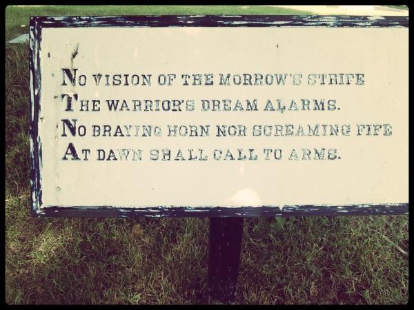 Fredericksburg Cemetery Poem