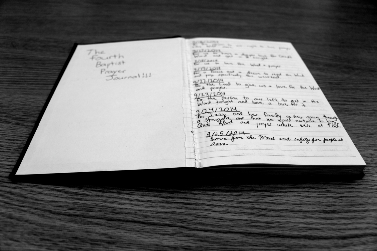 The Fourth Baptist Prayer Journal